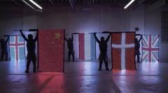《LED旗子 LED旗帜 发光旗帜 视觉标志》